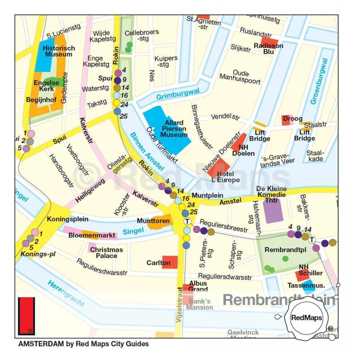 Amsterdam-museum quarter map - Museumsquartier Karte von ...