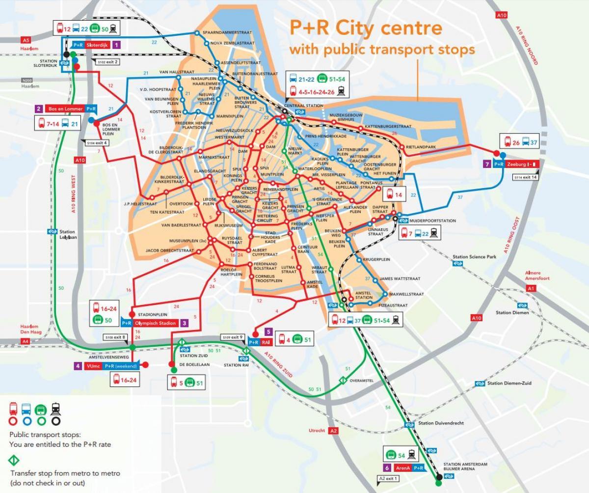P r Karte von Amsterdam - Amsterdam p r map (Niederlande)